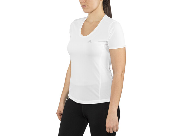 Salomon Agile Koszulka do biegania z krótkim rękawem Kobiety biały
